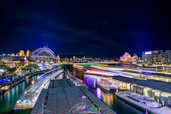 circular quay #Sydney (Qicong Lin(Kenta)) Tags: lighting city longexposure travel light urban color colour reflection building water festival ferry architecture night landscape nikon opera downtown cityscape exterior view harbour outdoor sydney vivid australia wideangle circularquay quay projection nightlight nsw therocks harbourbridge interest d5 urbanlandscape sydneyoperahouse birdview coloris vividsydney