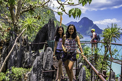 El Nido's Canopy walk (julesnene) Tags: travel cliff nature rock southeastasia paradise philippines adventure ph domes rockclimbing karst elnido palawan jaggededge topography canopywalk lastfrontier limestonecliffs julesnene mimaropa juliasumangil canon7dmarkii canon7dmark2 elnidoscanopywalk