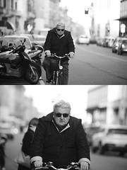[La Mia Citt][Pedala] (Urca) Tags: portrait blackandwhite bw bike bicycle italia milano bn ciclista biancoenero bicicletta 2016 pedalare dittico 85573 ritrattostradale nikondigitalemir