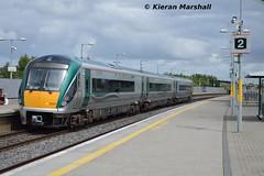 22007 at Portarlington, 27/6/16 (hurricanemk1c) Tags: irish train rail railway trains railways irishrail rok rotem portarlington 2016 icr iarnrd 22000 22007 ireann iarnrdireann 3pce 1305galwayheuston