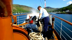Scotland West Highlands Argyll paddle steamer Waverley blowing her horn as she leaves Loch Ranza Island of Arran 29 May 2016 video by Anne MacKay (Anne MacKay images of interest & wonder) Tags: west by island anne scotland video highlands argyll may paddle mackay loch 29 steamer arran waverley 2016 ranza xs1