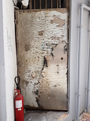 Peeling door wooden texture (cesarharada.com) Tags: ying hong kong say pun lif