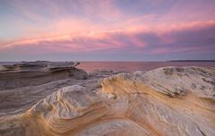 Cloudbank || Potter Point (David Marriott - Sydney) Tags: park cloud sunrise point dawn sandstone au sydney potter australia national newsouthwales kurnell