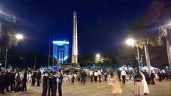 Plaza at night