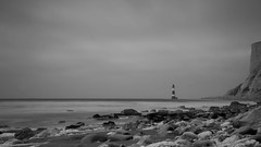 the lighthouse (neals pics) Tags: lighthouse beachy head sussex safety coast coastal beach water sea cliff sky rocks longexposure my100xbw bw blackwhite monochrome blackandwhite mono 100xthe2016edition 100x2016 image46100