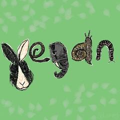 (laneyvee) Tags: elephant rabbit art sketch vegan drawing snake snail millipede