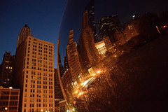 Cloud Gate - Chicago (Siyuant) Tags: chicago reflection night cloudgate