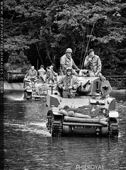 The River Crossing (zoomerphil) Tags: ford river soldier army us tank britain attack stuart ww2 beckett normandy sherman wii manouvre