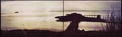 Retina IB (Big B Ausf II - Late) - Diptych - Evening at Birnbeck Pier, Weston-Super-Mare (Stitched) (TempusVolat) Tags: sea seascape film 35mm kodak scanner somerset scan severn scanned epson scanning gareth perfection ib westonsupermare retina tempus v200 wsm steepholm flatholm epsonperfection volat wonfor mrmorodo garethwonfor tempusvolat