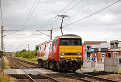 91127 Bentley 22/06/2016 (Flash_3939) Tags: uk light station june electric train flat engine first rail railway virgin end locomotive blunt bentley virgintrains 2016 class91 91127