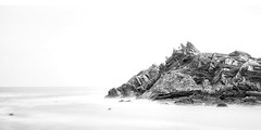 Polperro - Cornwall II (Jan Altenschmidt) Tags: greatbritain beach bw seascape england cornwall langzeitbelichtung polperro lansallos grosbritannien gbr