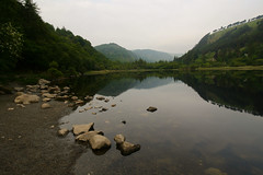 Smaller of Two (Costigano) Tags: ireland irish lake mountains reflection nature water canon eos scenery lough outdoor scenic glen glendalough valley wicklow waterscape hils