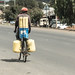 Getting water by bicycle