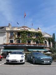 (SGH38) Tags: lemans classic classiccar vintageracing classiccars 24lm lm france astonmartin v8 vantge v8v porsche 911 gts hoteldefrance chartre vantage loir hotel de r1vev