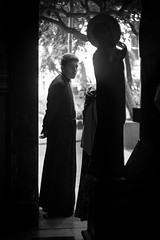 Sagome (Pavel 'PAshaRome' Vavilin) Tags: street blackandwhite bw italy roma monochrome 50mm italia candid religion m42 manualfocus lazio fifty whiteandblack parrocchia primelens  manuallens pancolar fastlens pancolar1850 ausjena russicum ausjenaddr fixlens ddrlens ausjenaddrpancolar1850 bisantium