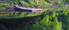 Sur la rivire Chteaugay (BLEUnord) Tags: rivire river chateaugay rflexions reflections ormstown montrgie quai dock verdure green eau water