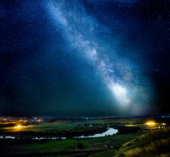 Missouri River Milky Way (Mark Payton Photography) Tags: canon stars montana nightscape stitch greatfalls mississippiriver nightsky milkyway reallyrightstuff rrs bh55 12800iso canonusa canonef2470mmf28liiusm missoulaphotographer canon1dx markpaytonphotography