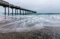 La Jolla Pier (JBMarro) Tags: ocean california seascape beach landscape la pier waves slow pacific silk shutter jolla
