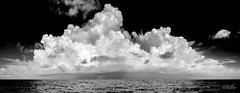Cloudscape Panoramic (srotag1973) Tags: ocean blackandwhite bw storm clouds florida atlantic cloudscape