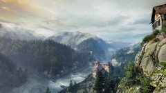 VOEC - 039 (Screenshotgraphy) Tags: sunset sky mountain lake game nature colors architecture clouds contrast montagne landscape pc screenshot lumire couleurs country lac ethan steam gaming ciel beaut carter concept nuages paysage vanishing campagne beautifull jeu naturelle urbain