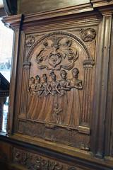 Relief carving of church women (quinet) Tags: sculpture church germany kirche carving relief glise stnicholaschurch schleswigholstein nikolaikirche 1636 2014 eckernfoerde schnitterei hansgudewerdt