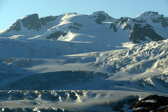 Early Morning Light (Dru!) Tags: morning sky mountain canada ice june dawn day bc britishcolumbia glacier mitchell crevasse seracs coastmountains glaciated crevasses serac brucejack boundaryranges seabridgejune2016