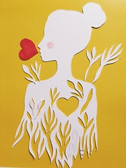 Be your own kind of beauty (Nieves Waleska) Tags: art illustration mixedmedia papercut artbynwpb