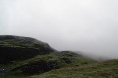 Dumyat (lenkadrbalova) Tags: mountain rain fog landscape scotland nikon hiking stirling minimalism d3100