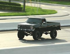 Silverado (Joe Folino ( LoopRunner )) Tags: motion black cars chevrolet up car k truck chevy trucks pick silverado panning lifted