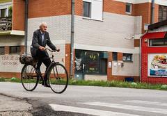 Into town. (mathematikaren) Tags: man bicycle village serbia balkans easterneurope vojvodina donauschwaben ravnoselo schowe vojvodenia