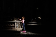 . (Fabian Schreyer // shootingcandid) Tags: street candid strasenfotografie church kirche rom roma rome colour candle spotlight streetphotography