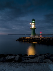 All along the watchtower (horge) Tags: warnemnde balticsea bluehour ostsee watchtower