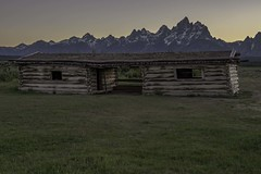 Cunningham Cabin sunset, Grand Teton National Park (HDRob) Tags: cunninghamcabin grandtetonnationalpark grandtetons mountains sunset