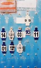 Thong Lo - Bangkok (35mm) (jcbkk1956) Tags: film analog 35mm thailand bangkok board numbers manual taxistand carlzeiss kodacolor200 thonglo motorcycletaxi contaxrts 45mmf28 worldtrekker