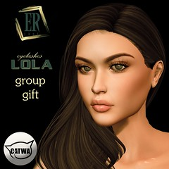 Erde: lashes Lola (marshallhayleylittlewolf) Tags: sl second life erde lashes catwa applier mesh head