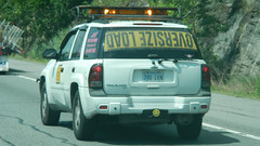 DAOL EZISREVO (blazer8696) Tags: 2016 ecw ny newyork t2016 usa unitedstates down dscn0284 load oversize sign upside oops escort vehicle