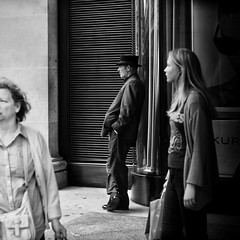 A long gaze (ebenette) Tags: leica blackandwhite london photography m8 summilux50mmasph itsmucheasiertoshootmenonthestreet