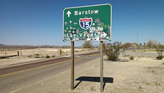 Somewhere Outside of Barstow - California (ChrisGoldNY) Tags: friendlychallenges challengewinners chrisgoldny chrisgoldberg chrisgold chrisgoldphotos chrisgoldphoto posters poster forsale albumcover albumcovers bookcover bookcovers california highways signs travel viajes barstow lasvegas huntersthompson fearandloathinginlasvegas roads shadows deserts mojave mojavedesert rural roadtrips driving htcone htc htc1 thechallengefactory