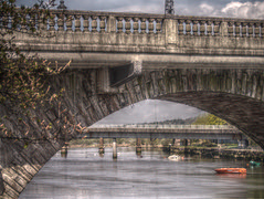 The Two Dumbarton Bridges (Bashinator) Tags: river boats bridges dumbarton hdr leven 7shot