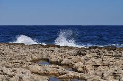 Spash! (Jocelyn777) Tags: nature water stone seascapes malta beaches seas