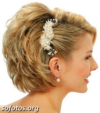 Penteado para noiva cabelo curto