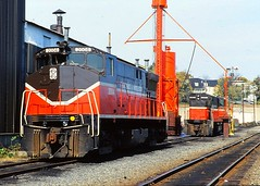 Providence and Worcester MLWs (SemmyTrailer) Tags: railroad usa diesel trains providence locomotive worcester alco mlw