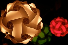 Glowing lamps