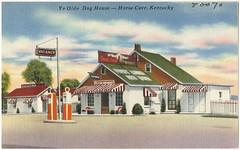 kentucky restaurants postcards motels tichnorbrothers