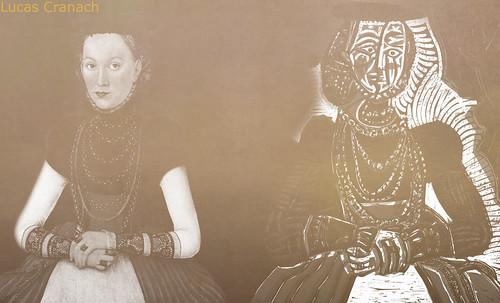 """Representación de Dama de la Nobleza, de Lucas Cranach el Joven (1564), ilustración y paráfrasis de Pablo Picasso (1958). • <a style=""""font-size:0.8em;"""" href=""""http://www.flickr.com/photos/30735181@N00/8746772585/"""" target=""""_blank"""">View on Flickr</a>"""