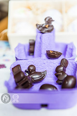 Easter Pralines (Cristian Sabau | Photography) Tags: vertical closeup easter photography candy chocolate nopeople indoors romania choice temptation transylvania luxury foodanddrink variation selectivefocus animalshape eastertheme mediumgroupofobjects