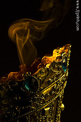 Censer XIII (TJ.Photography) Tags: lamp metal handle fire gold golden shiny glow perfume shine treasure stones metallic smoking burning flame burn ornament smell oriental orient smoker burner artifact aromatic item incense luster jewel odor artefact aroma engrave smelling censer cense