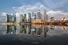 Serene (bing dun (nitewalk)) Tags: morning architecture sunrise canon singapore cityscape calm esplanade serene cbd tbd marinabay tiltshift shentonway tse17mmf40l tbdphotography tanbingdun bingdun