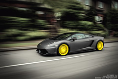 Gallardo x PUR wheels (Marcel Lech Photography) Tags: canada reflection yellow vancouver canon photography marcel photoshoot daily exotic kit rims lamborghini epic dmc v10 pur gallardo drift exotics lech driven