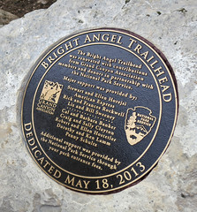 Bright Angel Trailhead Renovation - Commemerative Plaque  - May 18, 2013 - 0185 (Grand Canyon NPS) Tags: project nationalpark hiking grandcanyon sightseeing hike celebration hiker renovation ribboncutting improvement southrim brightangeltrail grandcanyonassociationdedication